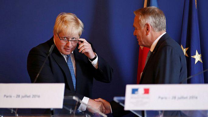 بوريس جونسون في باريس يشدد على أهمية التعاون بالأخص مع فرنسا