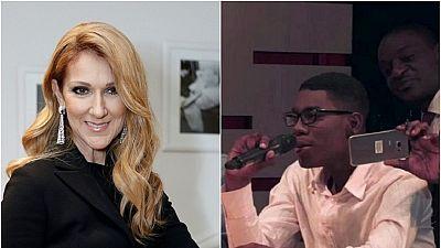 Céline Dion réagit à la prestation du jeune gabonais sur une de ses chansons