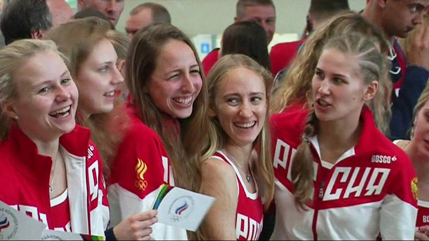 Threadbare Russian Olympic team en route to Rio