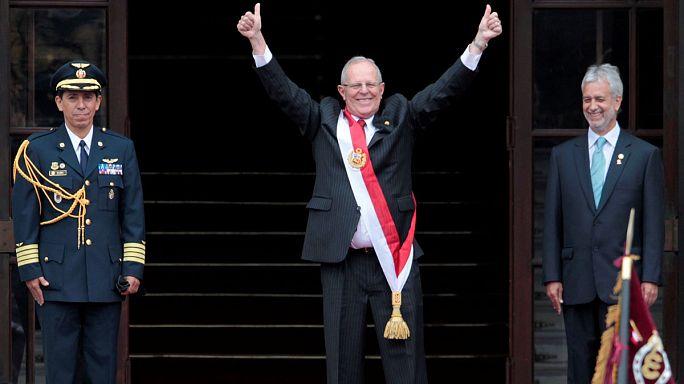 Novo presidente do Peru presta juramento