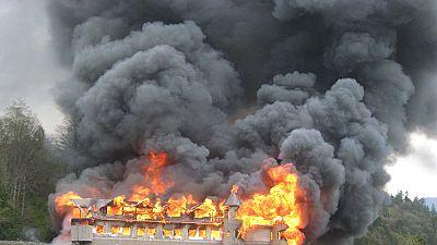Arson attack in Kenyan Schools