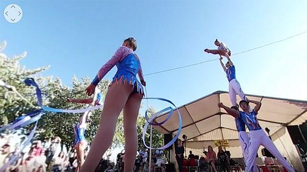 Jimnastikçilere 360 derece kamerayla bakış