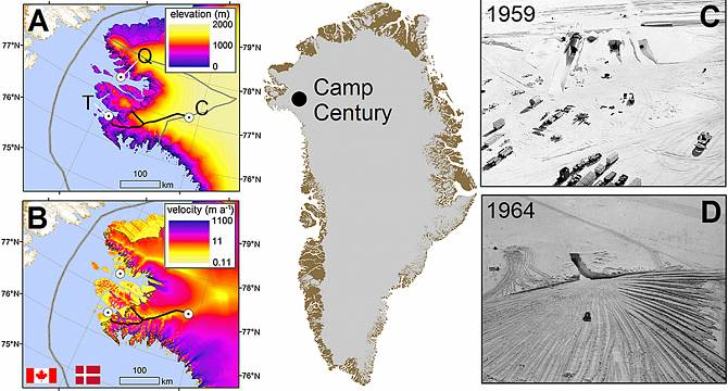 Greenland Rising Temperatures Risk Releasing Atomic Waste From - Map Of Us Decommisioned Army Bases