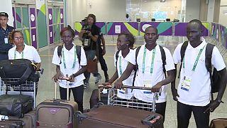 Olympisches Flüchtlingsteam trifft in Rio ein