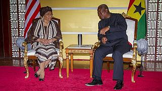 ECOWAS president Sirleaf visits Ghana, terrorism top of the agenda
