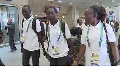 South Sudan Olympic refugees arrive Rio