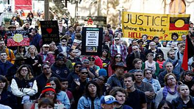 Protests in Australia over indigenous youth prison abuse