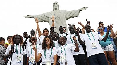 Refugee Olympic Team visit Christ the Redeemer statue
