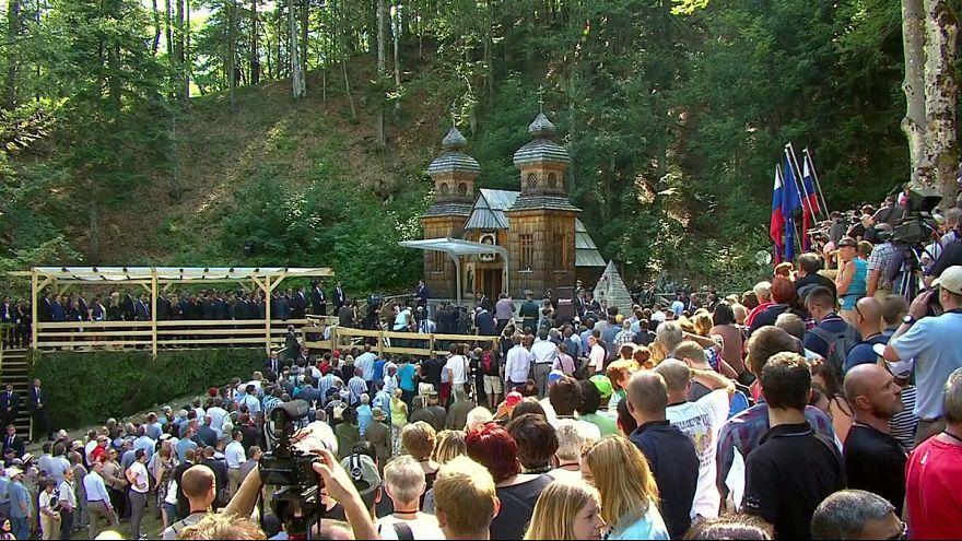 Putin Slovenya ziyaretinde kendi adını taşıyan kiliseyi ziyaret etti.