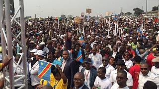 Thousands of DRC opposition supporters troop to Kinshasa rally
