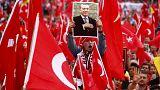 المانيا: مظاهرات في مدينة كولونيا لتأييد الرئيس التركي بعد الانقلاب الفاشل