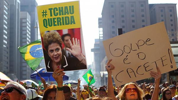 In run-up to Rio Games, thousands rally for and against Rousseff