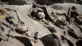 إكتشاف هياكل عظمية مكبلة بالأغلال تعود لفترة صراع على السلطة في اليونان القديمة