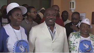 Gabon president warns of election unrest