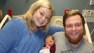 Wife saves husband's life then gives birth