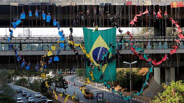 ساو باولو تهدي ريو حلقات الالعاب الاولمبية بتشكيلات بشرية
