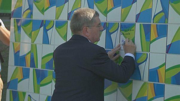 رونمایی از دیوار صلح المپیک ۲۰۱۶