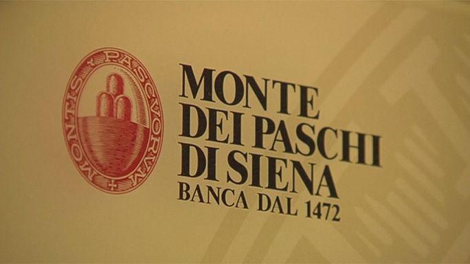 Desplome bursátil de la banca europea, con una caída del 16% del italiano Monte Paschi