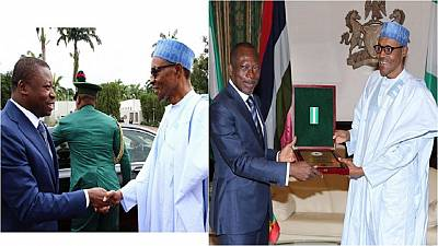 Presidents of Benin and Togo on official visits to Nigeria [Photos]