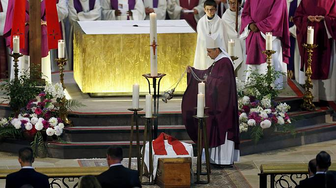 Thousands turn out for funeral of murdered French priest