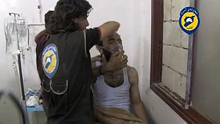 Video footage released of suspected chlorine gas attack in Syria