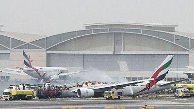 Voir la vidéo de l'avion d'Emirates en feu