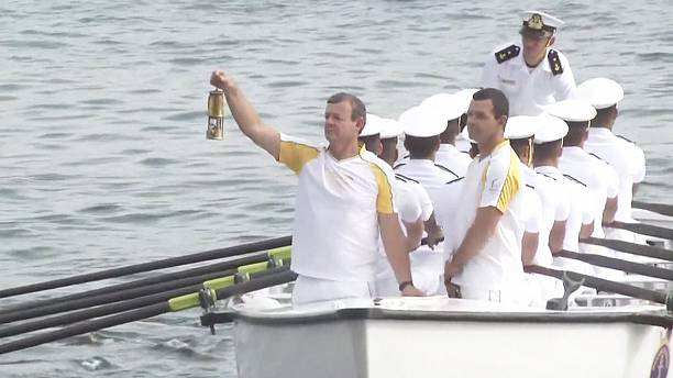 Olympic torch arrives in Rio de Janeiro