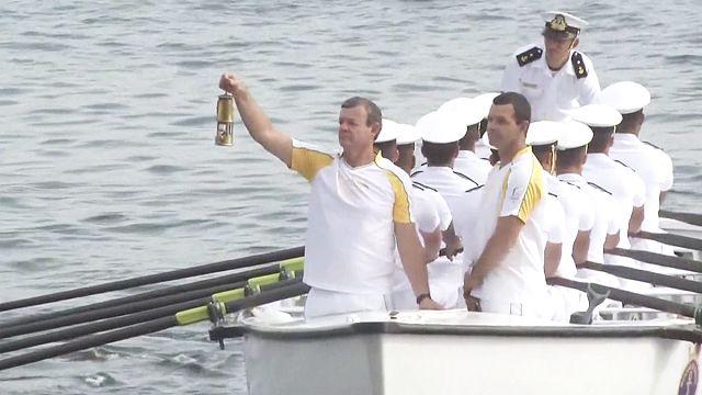 Олимпийский огонь прибыл в Рио-де-Жанейро