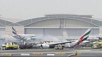 Emirates catches fire upon emergency landing at Dubai