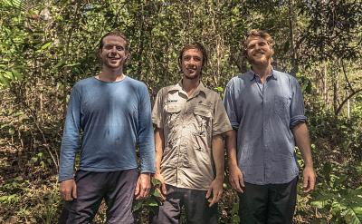 A team of three Brazilians -- from left, Bruno Rutman, Bruno Ferrari and Pedro Rutman -- recently won a world design competition for their Nucleario, a device designed to help trees grow in deforested regions of the Amazon.
