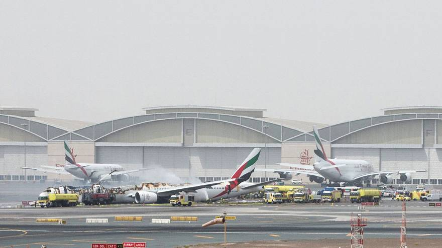 Firefighter dies while battling blaze after Emirates airline crash-lands in Dubai