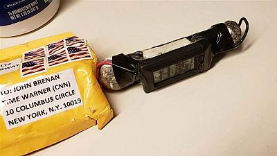 A suspected explosive device received at the CNN bureau in New York.