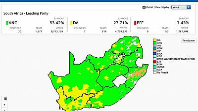 [LIVE] South Africa's local election results – 80% complete