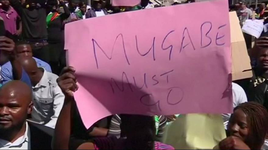 Zimbabwe: Anti-Mugabe demonstration