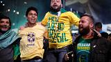 Image: Supporters of Jair Bolsonaro, far-right lawmaker and presidential ca