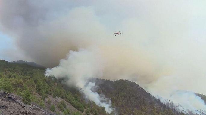 Лесной пожар на острове Ла Пальма