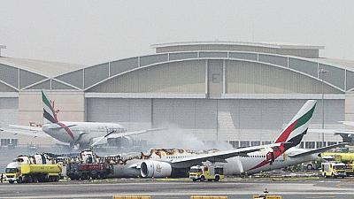 Passenger reactions to Emirates crash landing