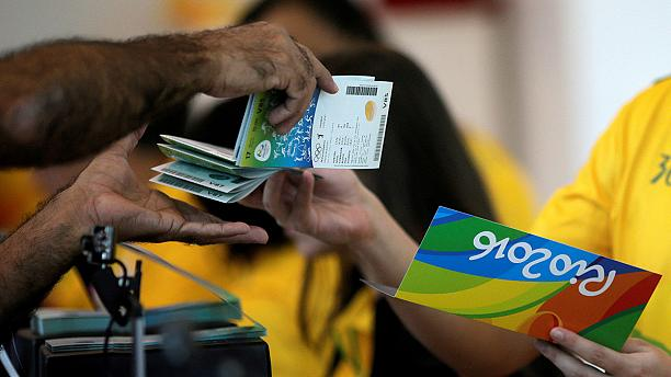 Drama in Rio as fans faced marathon queues to pick up pre-bought tickets