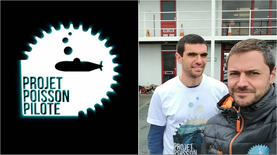 Meet the pair pedalling underwater from England to France