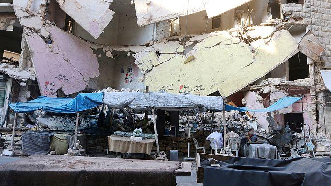13 people - including nine children - die in fighting in Aleppo