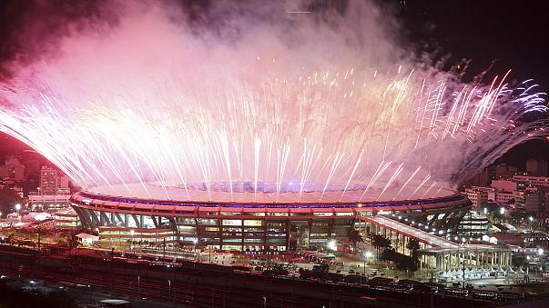 Fireworks on and off the pitch as the Rio Olympics officially open