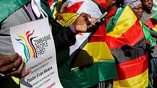 Zimbabwe anti-government protest during cricket game in Bulawayo