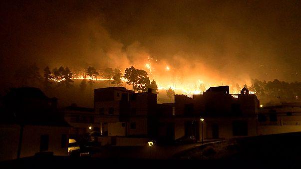Mentik a lakosságot La Palmán a tomboló erdőtűz elől