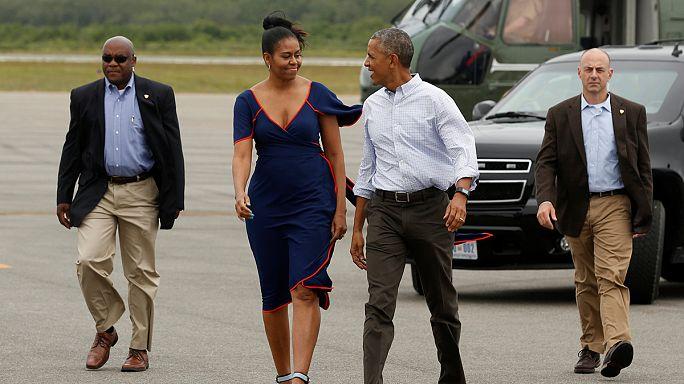 أوباما وعائلته في أخر اجازة صيفية وهو في منصبه كرئيس للولايات المتحدة