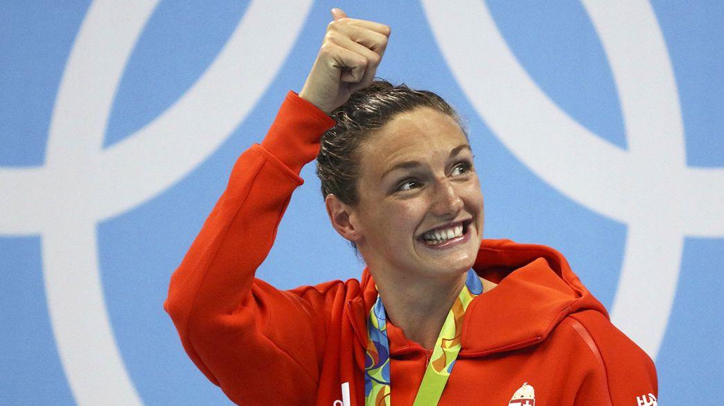 السباحة المجرية هوسو تحطم الرقم العالمي وتفوز بذهبية 400 متر في أولمبياد ريو