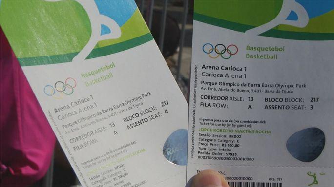 ريو 2016:إعادة بيع تذاكر المباريات بطرق غير شرعية