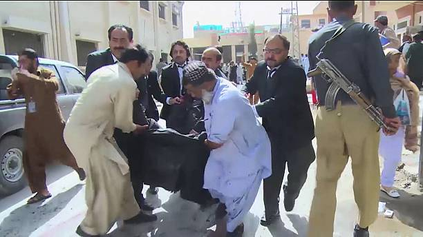 Bomb rips through hospital emergency ward in Quetta, Pakistan