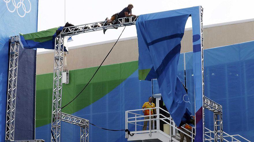Unwetter beeinträchtigen Rio 2016