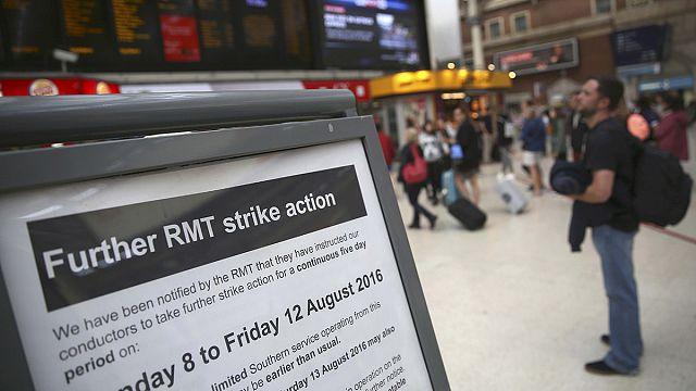 Забастовка британских железнодорожников продлится пять дней