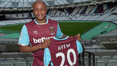 [Photos] It's official! Ghana's Andre Ayew is West Ham's record signing